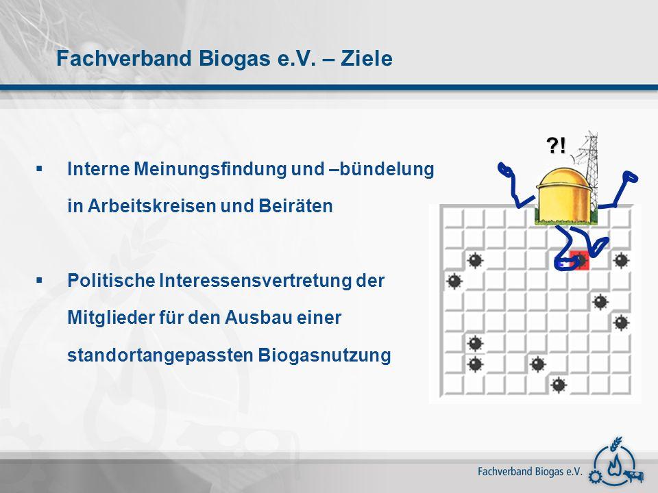 Struktur des Fachverbandes Biogas e.V.