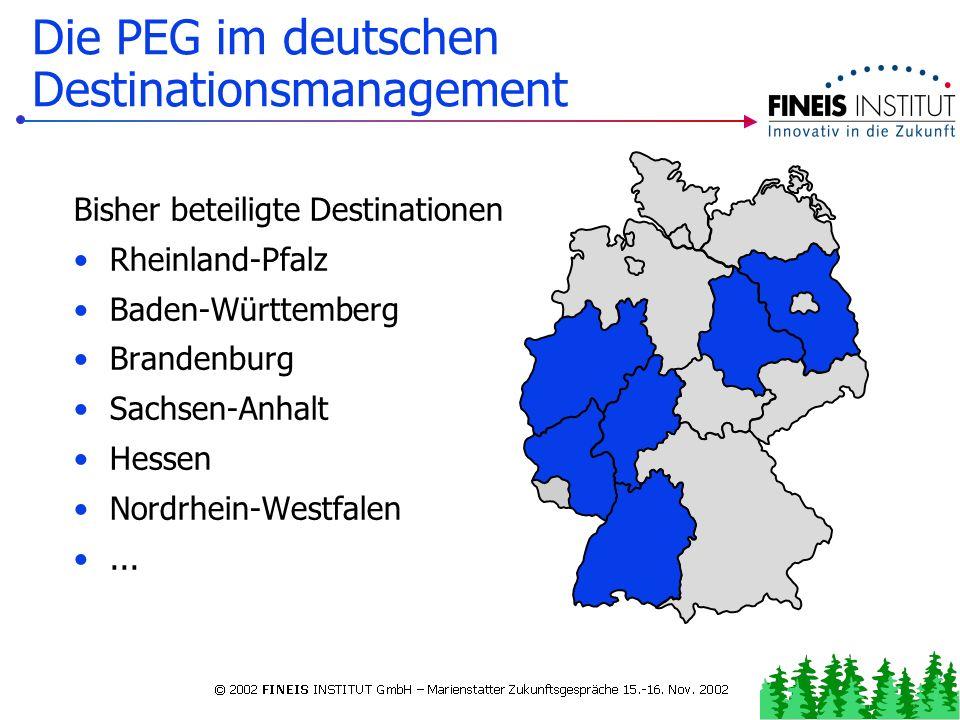 Grundsätzliches zur Permanenten Gästebefragung (PEG) Die PEG im deutschen Destinationsmanagement Die PEG... Die PEG: Grundlegend und kombinierbar PERM