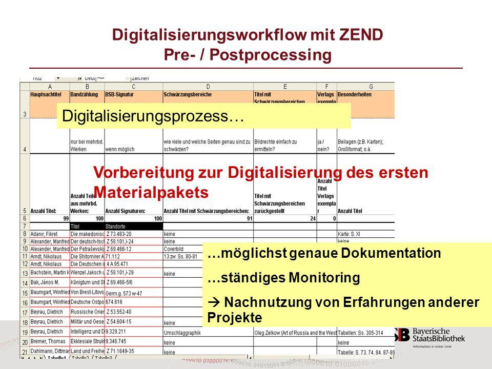 16 …möglichst genaue Dokumentation …ständiges Monitoring Nachnutzung von Erfahrungen anderer Projekte Digitalisierungsprozess… Vorbereitung zur Digita
