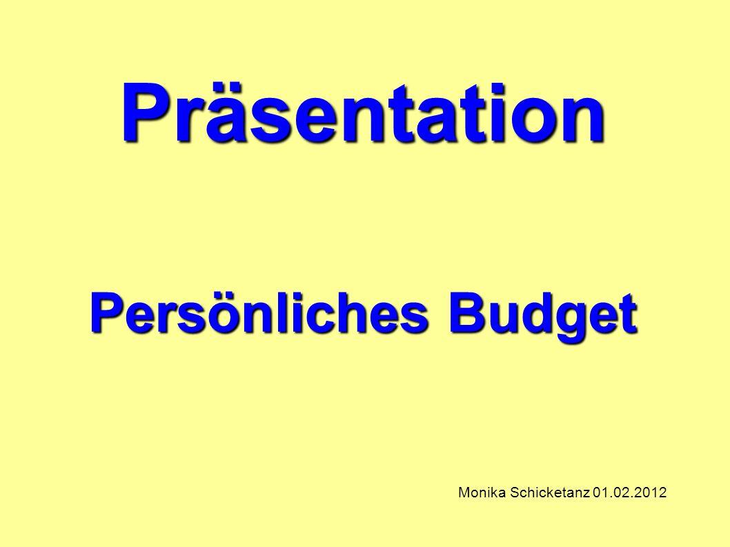 Präsentation Persönliches Budget Monika Schicketanz 01.02.2012