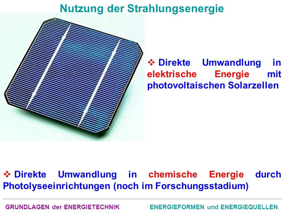 GRUNDLAGEN der ENERGIETECHNIKENERGIEFORMEN und ENERGIEQUELLEN Geothermische Energie Gegenwärtig sind in der Welt ca.