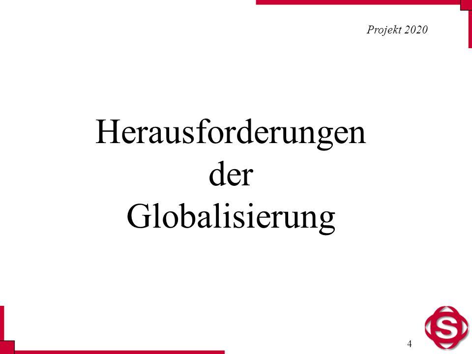 4 Projekt 2020 Herausforderungen der Globalisierung
