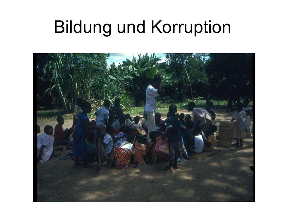 Bildung und Korruption