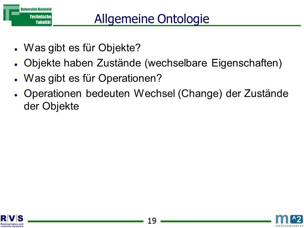 19 Allgemeine Ontologie Was gibt es für Objekte.