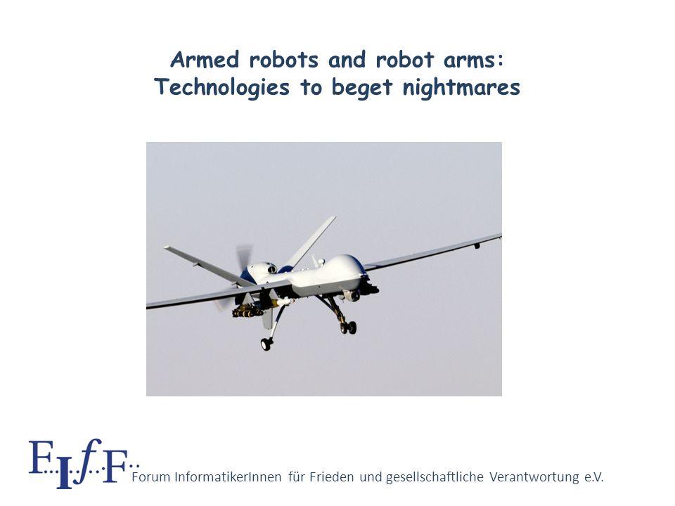 Forum InformatikerInnen für Frieden und gesellschaftliche Verantwortung e.V. Dual–use reversed into its contrary Computers: a genuine military technol