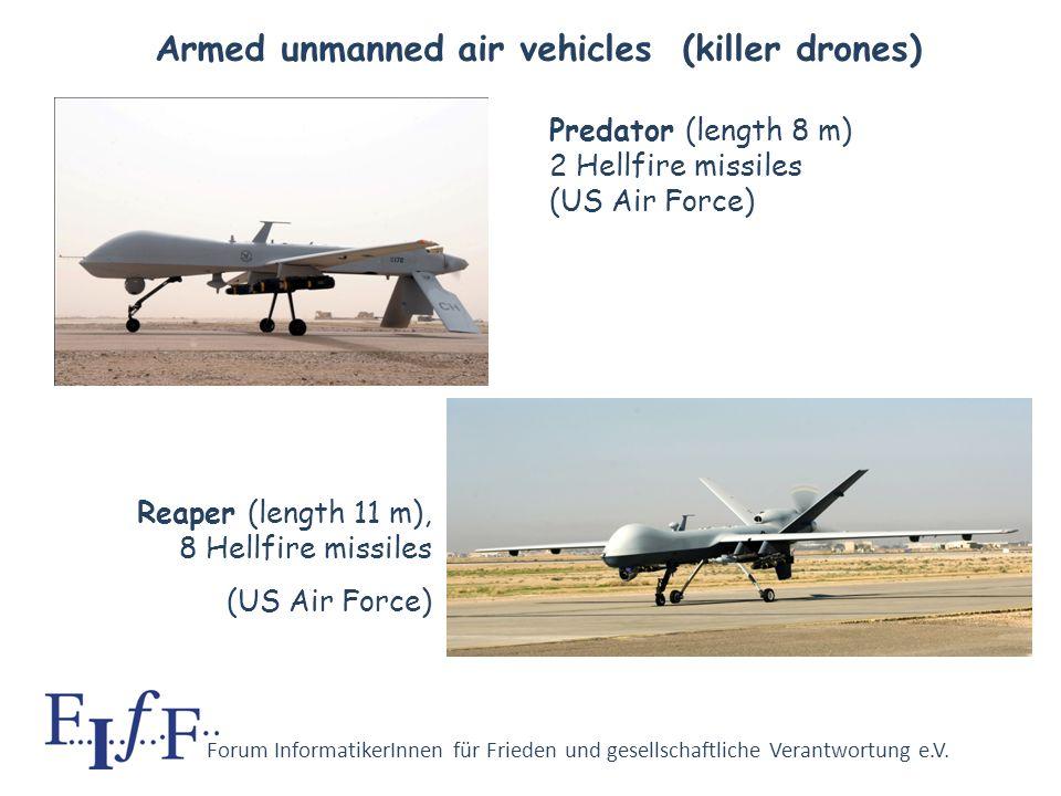 Forum InformatikerInnen für Frieden und gesellschaftliche Verantwortung e.V. U.S.A. plan to replace a large part of their weaponry by unmanned combat