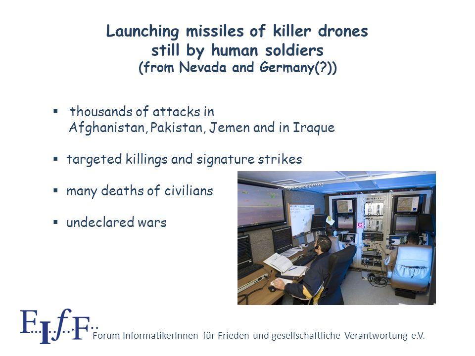 Forum InformatikerInnen für Frieden und gesellschaftliche Verantwortung e.V. Killer drones and such in German academia Professor Wünsche, University o