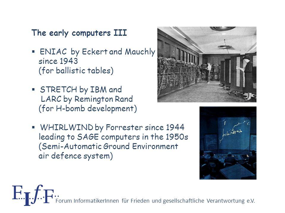 Forum InformatikerInnen für Frieden und gesellschaftliche Verantwortung e.V. The early computers II bombe by Alan Turing since 1939 at Government Code