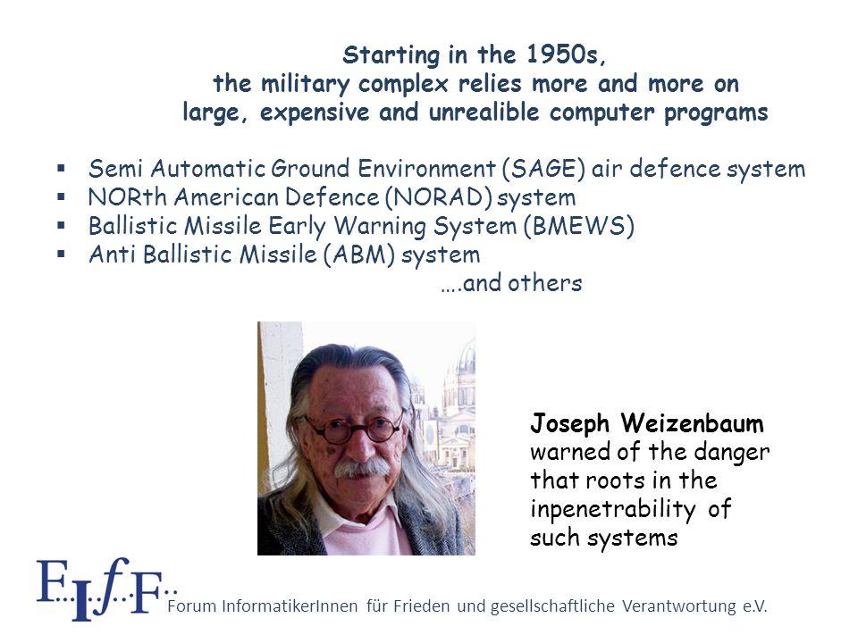 Forum InformatikerInnen für Frieden und gesellschaftliche Verantwortung e.V. The early computers III ENIAC by Eckert and Mauchly since 1943 (for balli