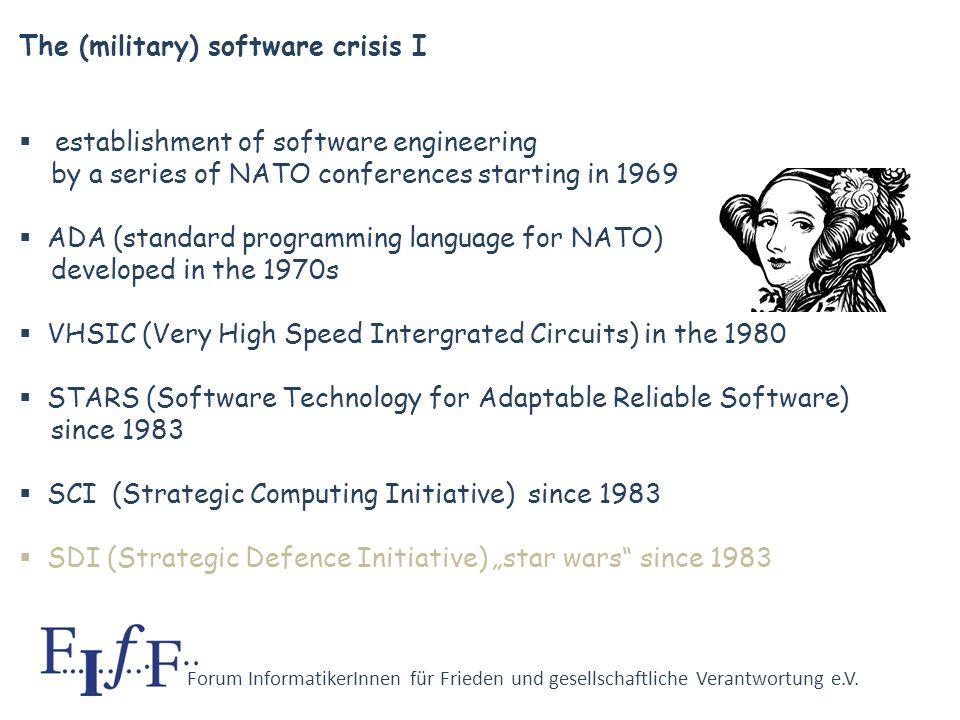 Forum InformatikerInnen für Frieden und gesellschaftliche Verantwortung e.V. Starting in the 1950s, the military complex relies more and more on large