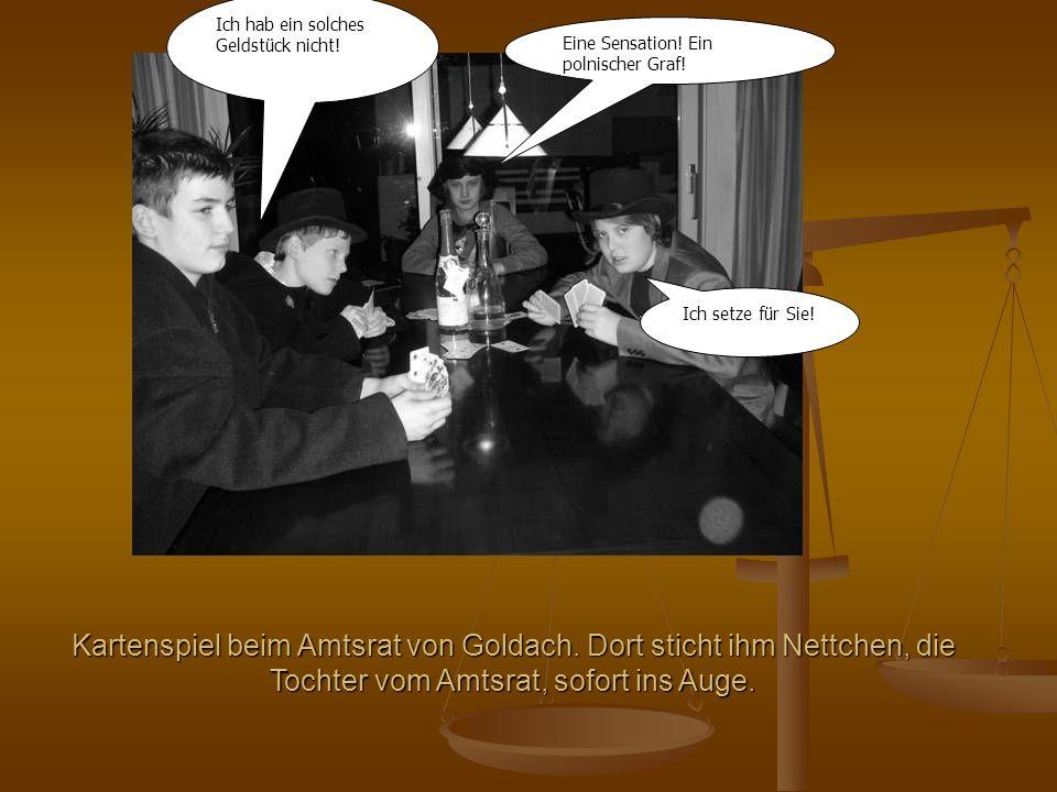 Kartenspiel beim Amtsrat von Goldach.
