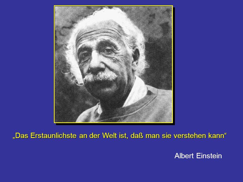 Das Erstaunlichste an der Welt ist, daß man sie verstehen kann Albert Einstein