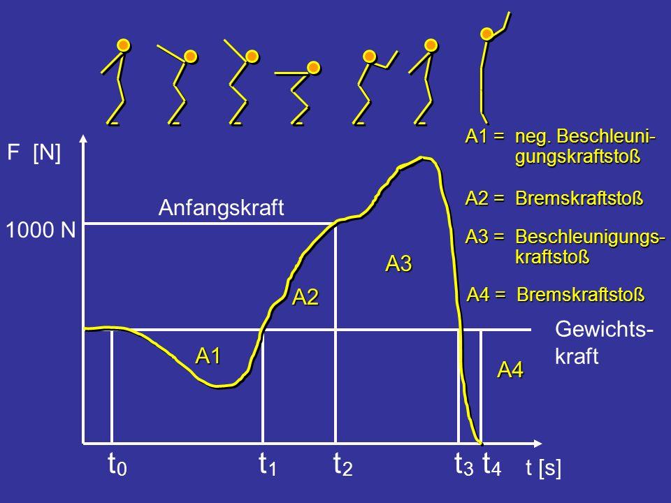 Gewichts- kraft Anfangskraft 1000 N A1 A2 A3 A4 F [N] t [s] t 4 t 3 t 2 t 1 t 0 A2 = Bremskraftstoß A3 = Beschleunigungs- kraftstoß A1 = neg. Beschleu