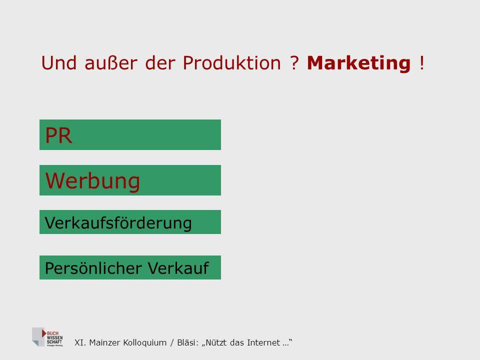 XI. Mainzer Kolloquium / Bläsi: Nützt das Internet … Und außer der Produktion .