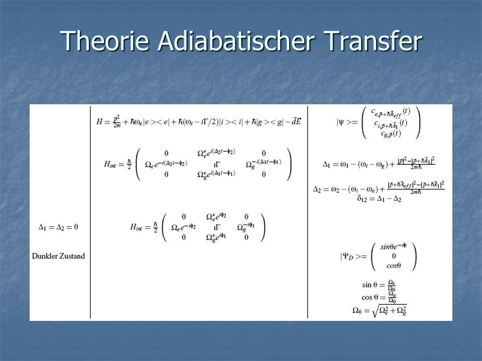 Theorie Adiabatischer Transfer