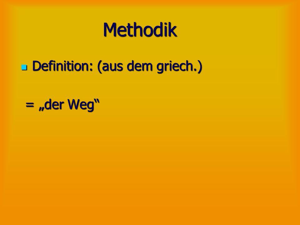Methodik Lehre von den planmäßigen Vermittlungsverfahren; Lehre von den planmäßigen Vermittlungsverfahren; Zielsetzungen im Hinblick auf Zielgruppen; Zielsetzungen im Hinblick auf Zielgruppen; Auswahl der Medien Auswahl der Medien