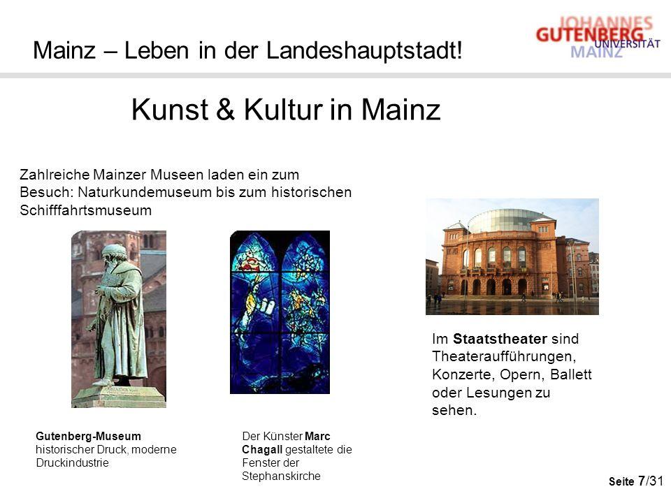 Seite 7/31 Mainz – Leben in der Landeshauptstadt! Kunst & Kultur in Mainz Gutenberg-Museum historischer Druck, moderne Druckindustrie Der Künster Marc