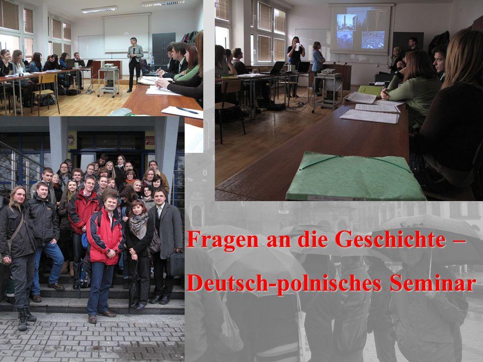 Fragen an die Geschichte – Deutsch-polnisches Seminar