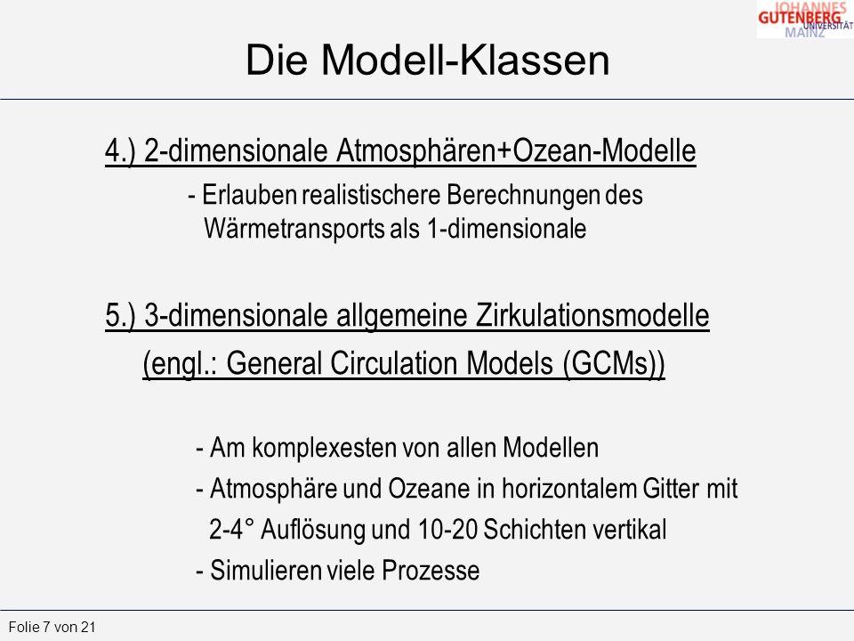 Theoretische Meteorologie III -2 (M) (Atmosphärische Strahlung und Optik) 8