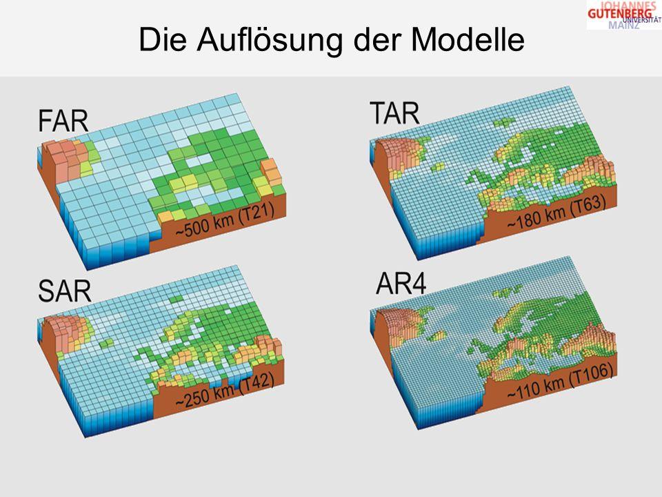 Folie 9 von 21 Die Auflösung der Modelle