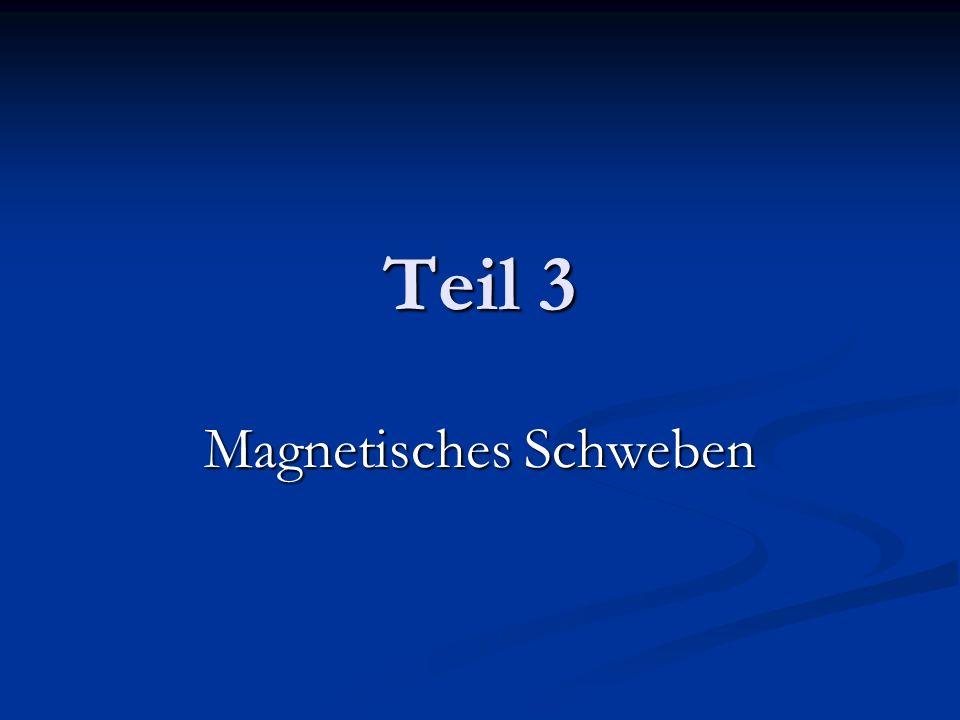 Teil 3 Magnetisches Schweben