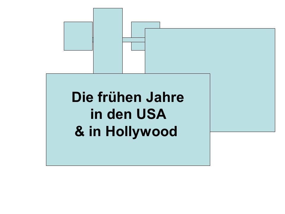 Die frühen Jahre in den USA & in Hollywood