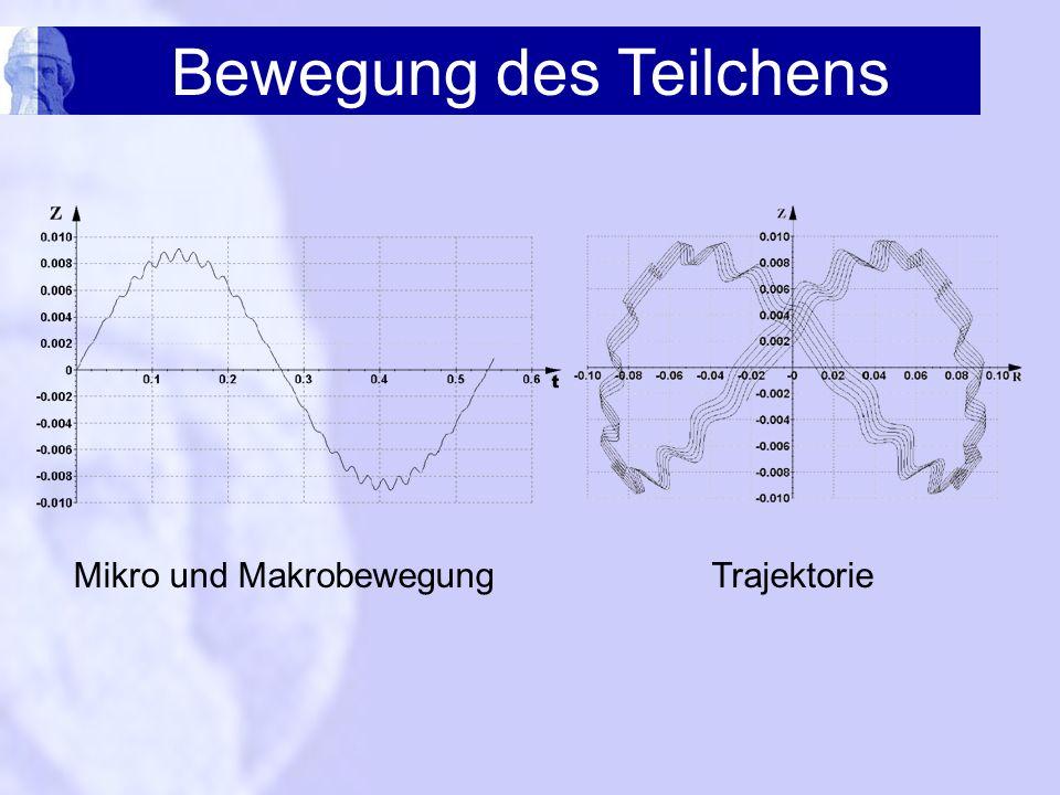 Bewegung des Teilchens Mikro und MakrobewegungTrajektorie