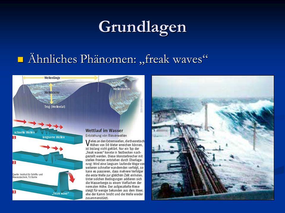 Grundlagen Ähnliches Phänomen: freak waves Ähnliches Phänomen: freak waves