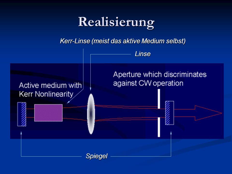 Realisierung Spiegel Linse Kerr-Linse (meist das aktive Medium selbst)