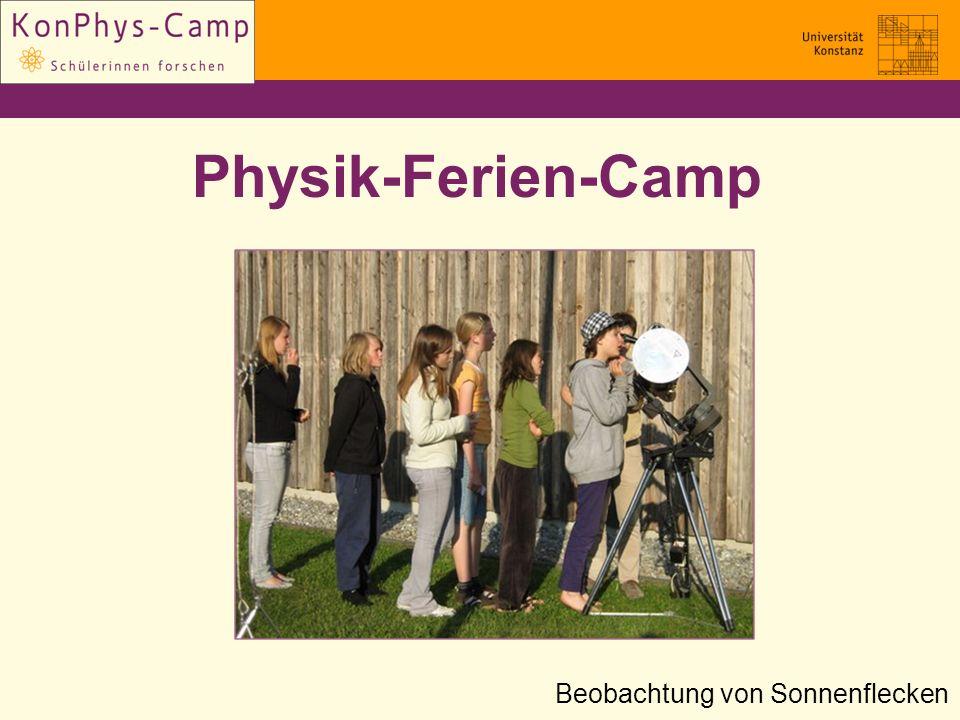 Physik-Ferien-Camp Beobachtung von Sonnenflecken