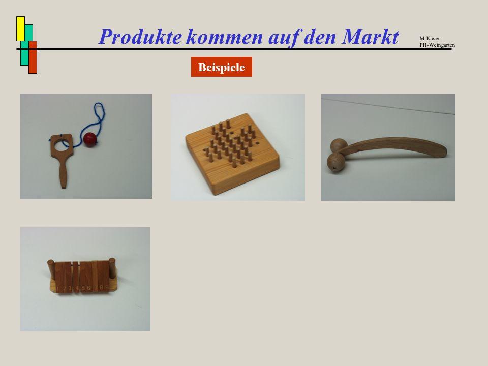Produkte kommen auf den Markt Kalkulation des Verkaufspreises am Beispiel TT-Schläger M.Käser PH-Weingarten Fertigungsmaterial5,55 DM +Materialgemeink