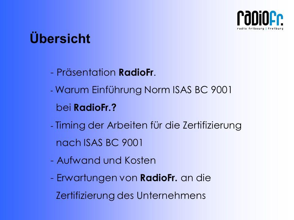 - Präsentation RadioFr. - Warum Einführung Norm ISAS BC 9001 bei RadioFr..