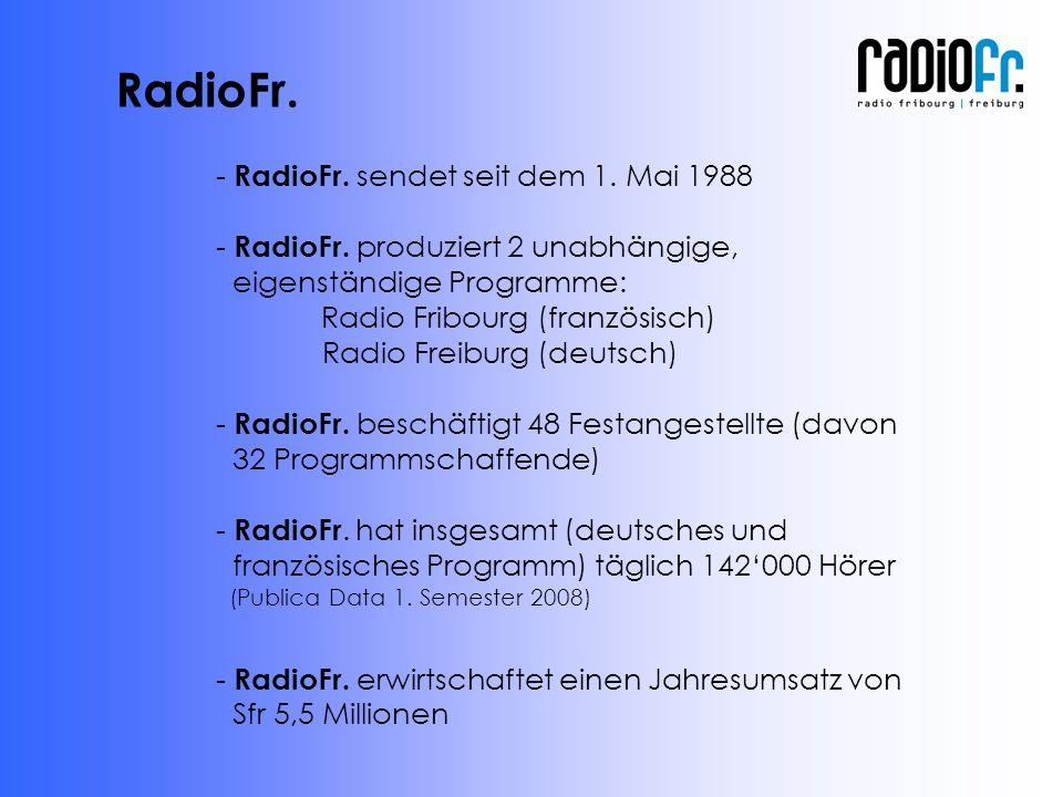 - RadioFr. sendet seit dem 1. Mai 1988 - RadioFr.