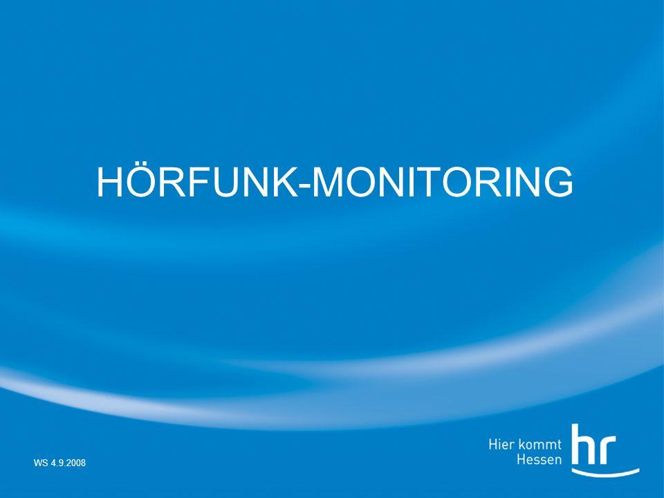 WS 4.9.2008 HÖRFUNK-MONITORING