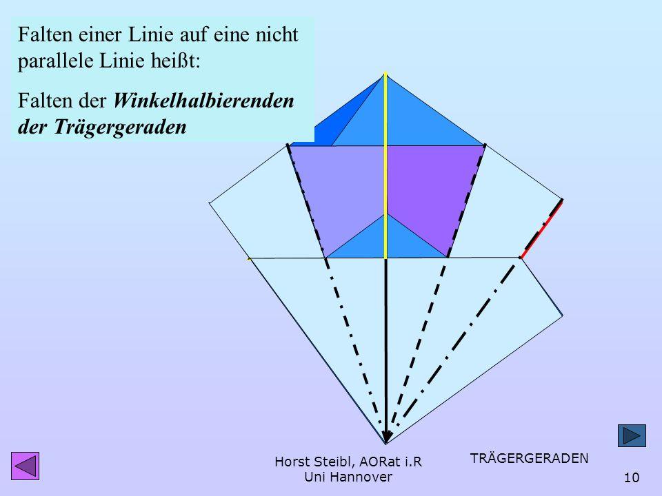 Horst Steibl, AORat i.R Uni Hannover9 Hilfe kam vom Schierlingsbecher Punkt auf Linie Doch wie kommt der gelbe Punkt so auf die Gegenseite, dass die o
