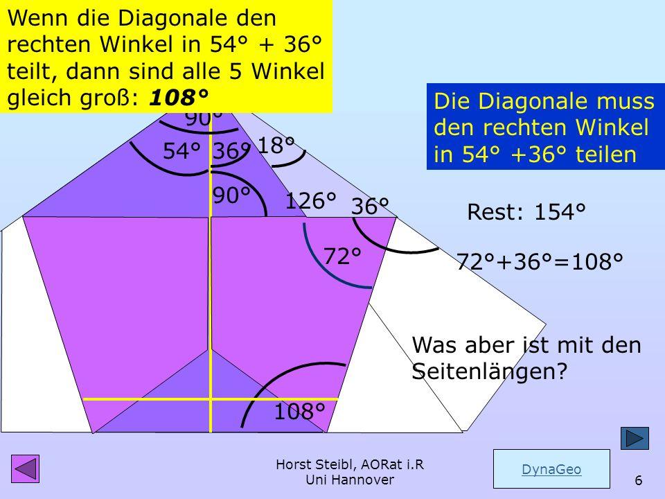 Horst Steibl, AORat i.R Uni Hannover5 Die Faltlinien im Rechteck Und dennoch habe ich es hier versäumt und wandte mich lieber dem schönen Bild des Fün
