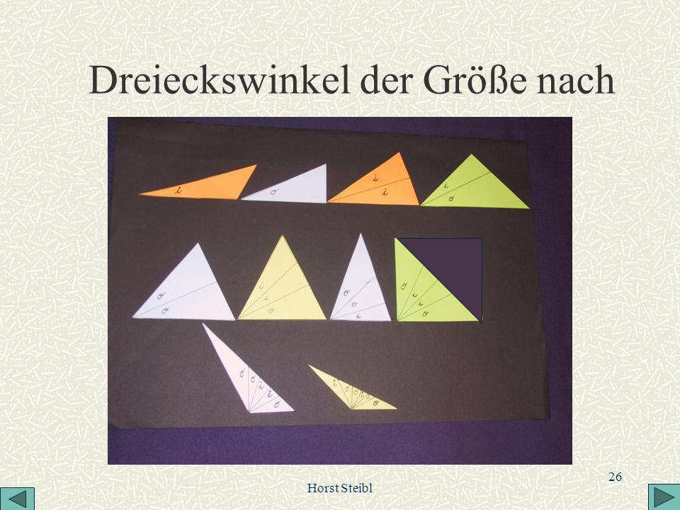 Horst Steibl 26 Dreieckswinkel der Größe nach