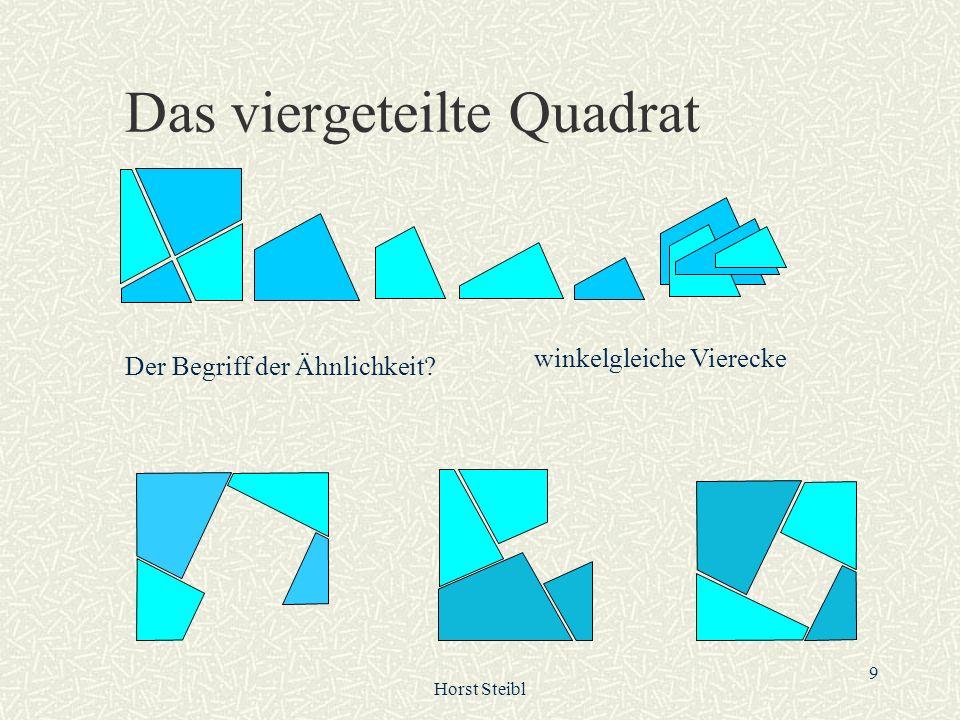 Horst Steibl 30 Welches Dreieck wird durch diese Winkelfolge charakterisiert.