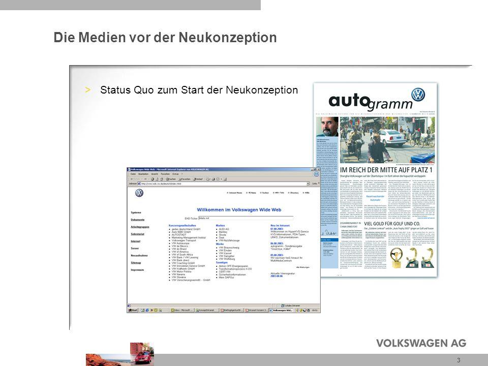 3 Die Medien vor der Neukonzeption >Status Quo zum Start der Neukonzeption