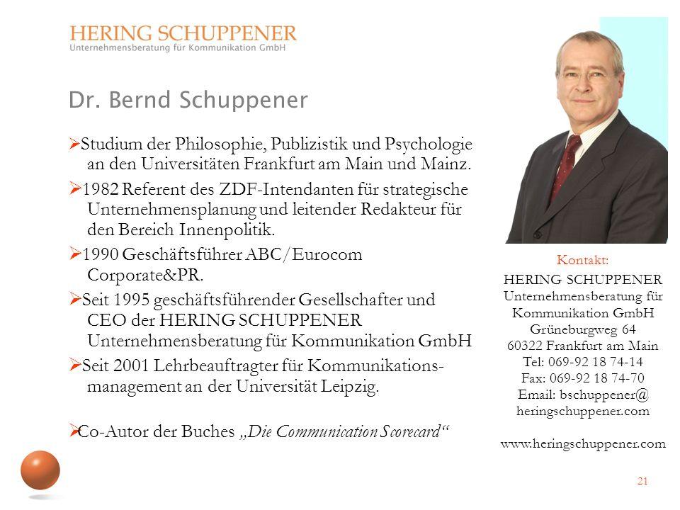 Studium der Philosophie, Publizistik und Psychologie an den Universitäten Frankfurt am Main und Mainz. 1982 Referent des ZDF-Intendanten für strategis