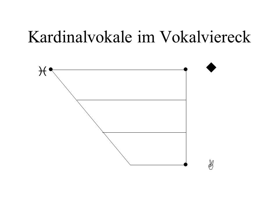 Kardinalvokale im Vokalviereck i A u