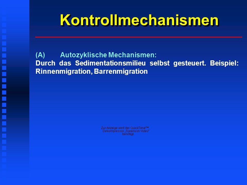 KontrollmechanismenKontrollmechanismen (A)Autozyklische Mechanismen: Durch das Sedimentationsmilieu selbst gesteuert.