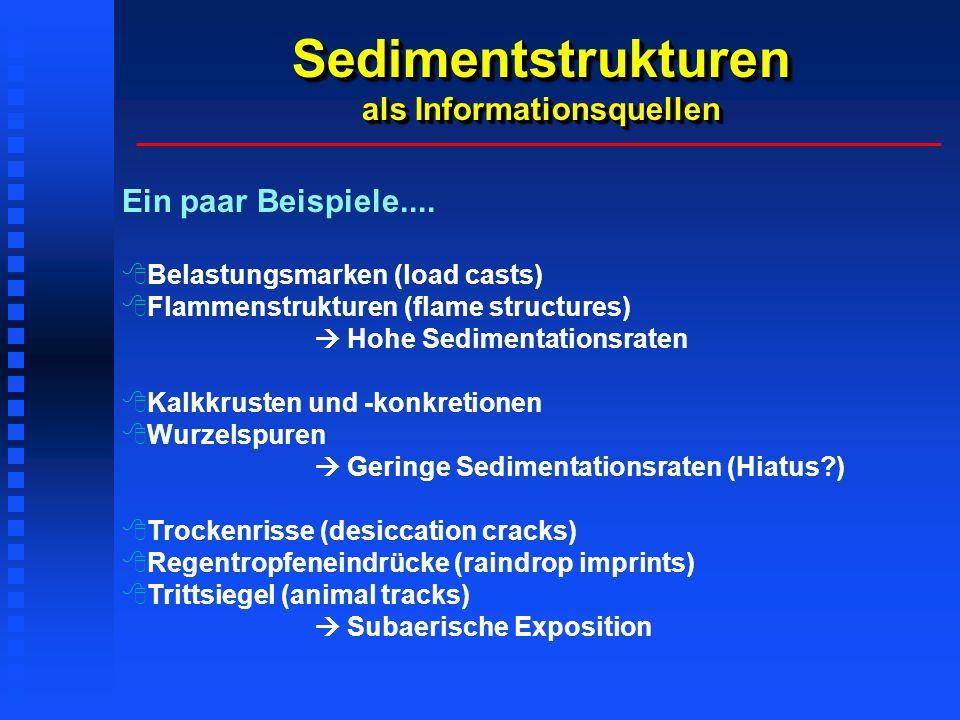 Sedimentstrukturen als Informationsquellen Ein paar Beispiele....