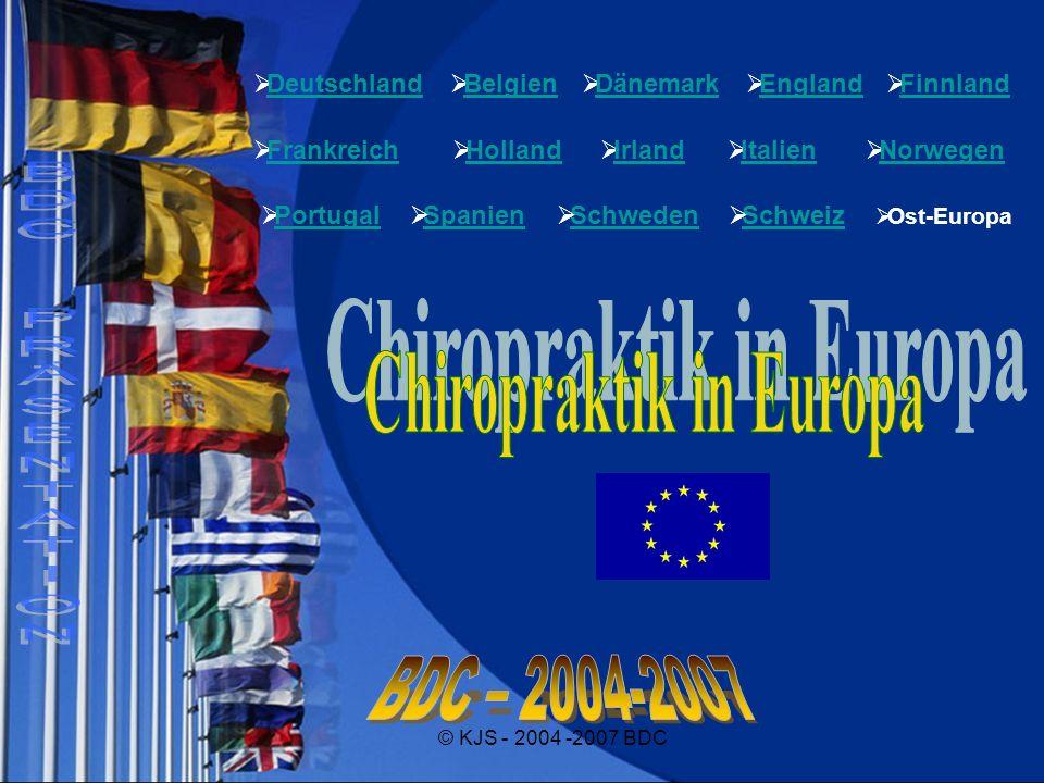 © KJS - 2004 -2007 BDC Deutschland Belgien Dänemark England Finnland Frankreich Holland Irland Italien Norwegen Portugal Spanien Schweden Schweiz Ost-