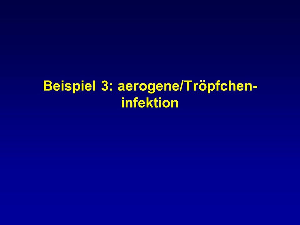 Beispiel 3: aerogene/Tröpfchen- infektion