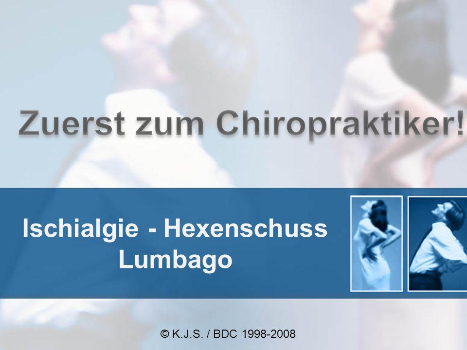 Ischialgie - Hexenschuss Lumbago © K.J.S. / BDC 1998-2008