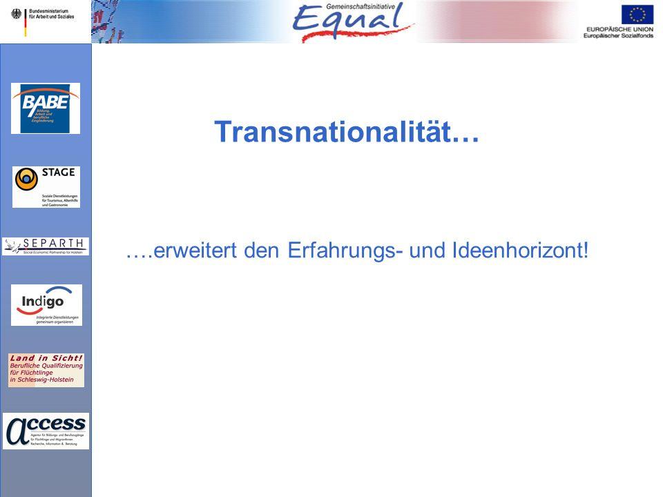 ….erweitert den Erfahrungs- und Ideenhorizont! Transnationalität…