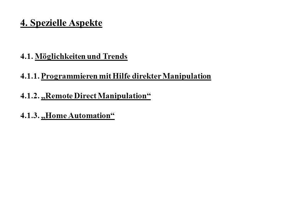 4.Spezielle Aspekte 4.1. Möglichkeiten und Trends 4.1.1.