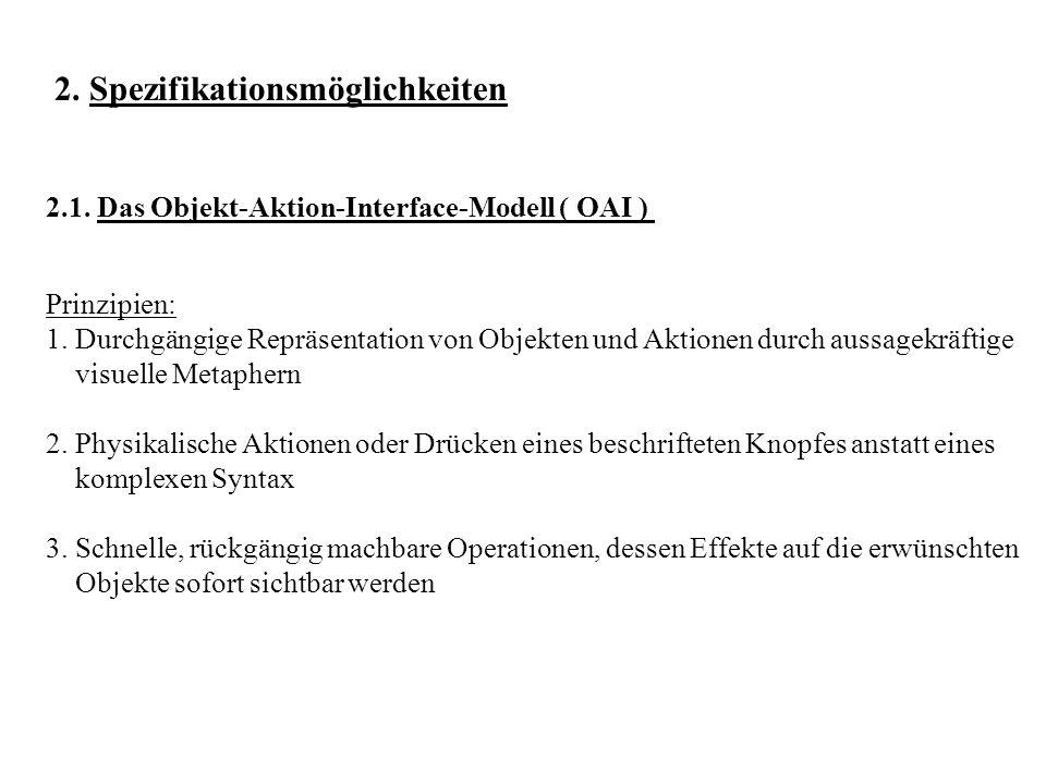 2.1.Das Objekt-Aktion-Interface-Modell ( OAI ) Prinzipien: 1.