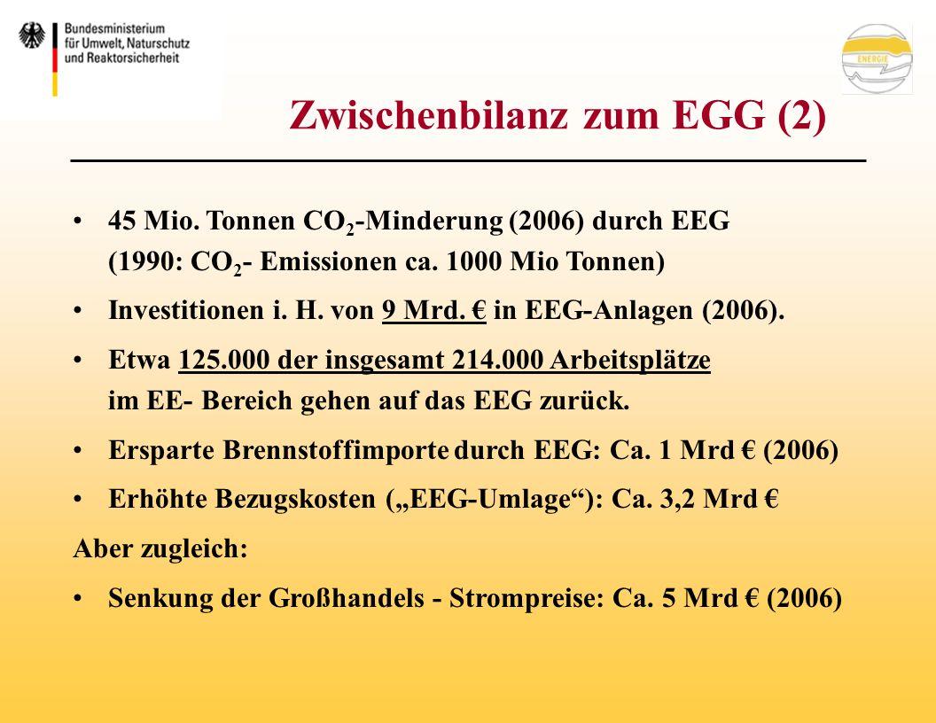 Zwischenbilanz zum EGG (2) 45 Mio.